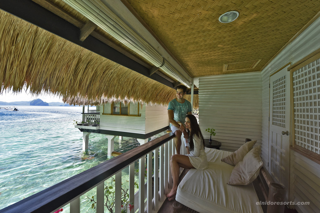 Miniloc Island - Water Cottage Veranda (Photocourtesy of El Nido Resorts)