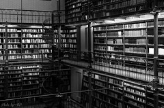 Bibliothque (stephane_p) Tags: 2014 amsterdam pentax bibliothque blackandwhite blackwhite bw library monochrome nb noirblanc noiretblanc