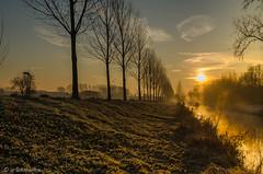 Frühnebel auf der Niers (claudialohmanns) Tags: fluss niers nebel sonnenaufgang