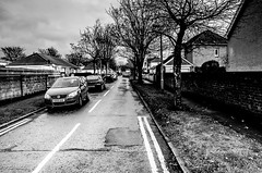 Parked! (BGDL) Tags: lightroomcc nikond7000 bgdl urban monochrome afsnikkor18105mm13556g blackandwhite street prestwick 7daysofshooting week22 inthestreet blackandwhitewednesday