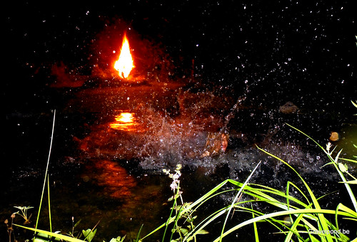 Nachtduik/Nightdive in pond