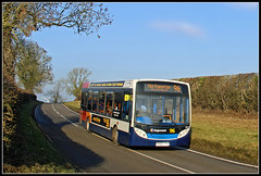 36210 Long Buckby Road (Jason 87030) Tags: kx60lhr 36210 stagecoach murcott longbuckby december 2016 sunny bus e200 enviro 96 rugby nothampton northants roadside sky northamptonshire lens canon transport man hat cap road hedge location vehicle route branded terribletwins