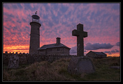 The Magic Of Lundy Island (Explored) (RattyBoots) Tags: sunset lighthouse canon landscape island memorial heaven 7d lundy bristolchannel oldlight canon1022