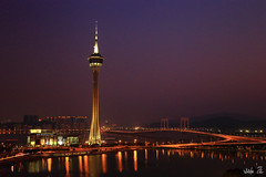 &-2 (Whitefox Chen) Tags: tower canon nightscape nd macau  6d   friendshipbridge  canon24105mm