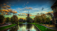 Stedelijk Molenmuseum de Valk, Leiden, Zuid-Holland, Netherlands (Stewart Leiwakabessy) Tags: city sunset sky people fall netherlands windmill museum landscape leiden saturation photowalk nl hdr highdynamicrange molen multiexposure zuidholland southholland photomatix bracketed tonemapped stedelijkmolenmuseumdevalk bierbitterballen