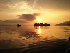Alba sul Lago Maggiore e Isola Bella