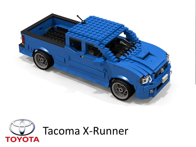 auto birthday usa car sport america truck model lego 4x4 render 4wd pickup toyota tacoma 2008 7th challenge cad lugnuts povray 84 moc xrunner ldd miniland offload lego911 toyotatacomatime lugnutsturns7…or49indogyears