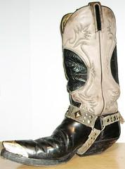 Sendra schwarz-grau Schaft-Wappen St.-band 005 02 (xjr.bikerman) Tags: boots cowboyboots wappen stiefel cowboystiefel sendra