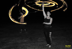 Tabby Turner & Tom Hayles (Trev Earl) Tags: canon bedford fire spin flames 5d fullframe coloursplash lserieslens tomhayles firespiniii tabbyturner