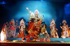 Durga Puja (Krish | കൃഷ്) Tags: india festival creativity nikon worship traditional faith belief festivity puja durgapuja krish arunachal navaratri d60 vijayadasami maadurga dussera pujapandal hinduidol