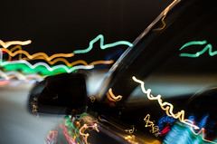 Colored moving lights (miikajom) Tags: auto light abstract colors car night suomi finland mirror long exposure bokeh low kokkola y peili vrit pitk valotus