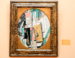 """""""Gitar"""" (Guitar) by Pablo Picasso (1912) (Justin Kane) Tags: art oslo norway museum painting gallery national museet nasjonal"""