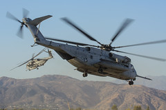 CH-53E Super Stallions (Trent Bell) Tags: california field airport aircraft military helicopter socal sikorsky 2014 laverne brackett superstallion ch53e hmh462