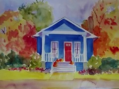 AUTUMN IN OREGON (BonnieBuchananKingry) Tags: autumn oregon paintings bluehouse bungalowautumnleaves