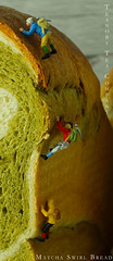 Matcha Bread Mountain Climbing 4 (Kirinohana) Tags: mountain green scale japan bread japanese miniature tea climbing swirl ho matcha teanobi