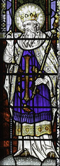 St Edward the Confessor (Lawrence OP) Tags: westminster saint birmingham heraldry king cathedral stainedglass ring edward sceptre confessor stchads martlet