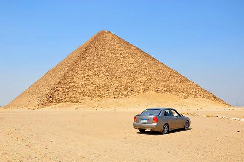 الأحمر الهرم - دهشور مقبرة، الجيزة - مصر (Pirâmide Vermelha - Necrópole de Dahshur, Gizé - Egito)