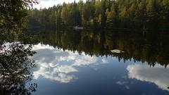 Lake Halkolampi (Luukki recreation area, Espoo, 20140913) (RainoL) Tags: autumn lake reflection forest espoo finland geotagged september u fin 2014 uusimaa nyland esbo luukki luukkaa halkolampi fz200 201409 20140913 geo:lat=6033131335 geo:lon=2467001438