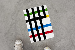 A3 Work 77 (Antonio_Gonzlez) Tags: art geometric painting paper contemporaryart unique a3 antonio contemporarypainting 2013 antoniogonzlez originalpiece syntheticenamel 297x42cm