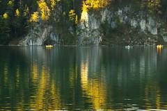 Between autumn & darkness - 1 (Alpsee, Bayern) (armxesde) Tags: autumn light lake reflection tree fall water germany bayern deutschland bavaria see boat wasser pentax herbst spiegelung ricoh baum k3 baviera alpsee