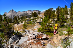 Heading to Evolution Valley from Darwins Bench (Tinfoil Hat) Tags: mountains sierra backpacking backcountry sierranevada kingscanyon darwinsbench