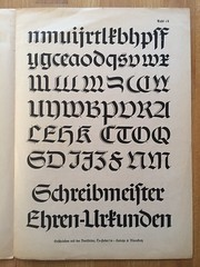 Schwabacher  ein Lehrgang von Hiero Rhode, Berlin (frankrolf) Tags: calligraphy kalligrafie heintzeblanckertz hierorhode