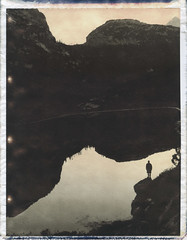 Visitor In Paradise (Bastiank80) Tags: life camera mountains film nature analog polaroid living paradise outdoor earth chocolate being air mother free fresh adventure explore pack human land instant converted 100 wilderness expired simple visitor choco pathfinder funtensee summits 110a bastiank