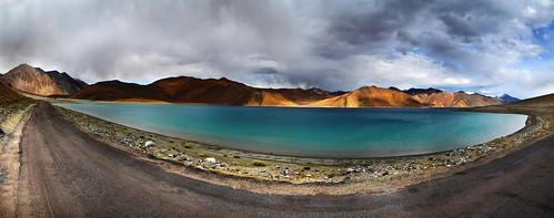 blue india lake water tibet ladakh pangong
