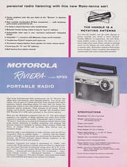 MOTOROLA Portable Radio Dealer Sheet model Riviera 5P33 (USA 1957)_2 (MarkAmsterdam) Tags: old classic sign metal museum radio vintage advertising design early tv portable colorful fifties arm tsf mark ad tube battery engineering pickup retro advertisement collection plastic equipment deck tape changer electronics era record handheld sheet catalog booklet collectible portfolio recorder eames sales electrical atomic brochure console folder tone forties fernseher sixties transistor phono phonograph dealer cartridge carradio fashioned transistorradio tuberadio pocketradio 50s 60s musiktruhe tableradio magnetophon plaskon 40s kitchenradio meijster markmeijster markamsterdam coatradio tovertoom