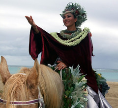 Pa'u Princess of Kahoolawe Marisa Kaleohano a 9.201 (colleeninhawaii) Tags: horse floral hawaii princess oahu band parade marching honolulu rider pau 2014 alohafesivals 2014alohafestivalparade