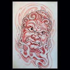 Fudo myoo sketch, I would love to tattoo this!!!! #fudomyoo #pooch_art