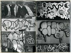 "Page spread from ""Boston Grime"" by the Chubby Behemoth (fotoflow / Oscar Arriola) Tags: new york city nyc usa zine art festival boston america island graffiti 1 book design us diy long arte drawing united libro fair moma tags ps september queens american ps1 lic booklet states graff grime fest chubby zines behemoth 2014 fanzine nyab bostongrime"