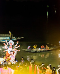 Visharjan | Durga Puja 2014 (Kuntal Gupta) Tags: indian goddess idol hindu puja deity durga bengali panihati sodepur 5dmark3 tamron70200f28vc