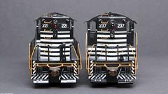 C&EI 221 237 Ends (Engine Shed) Tags: trains hobby ho genesis modelrailroad hoscale hogauge gp9 athearn piszczek athg62503 athg62505