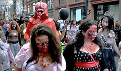 more zombies on parade (Mr.  Mark) Tags: toronto march photo costume scary blood funny mask zombie walk stock makeup parade creepy brains gore 2014 markboucher
