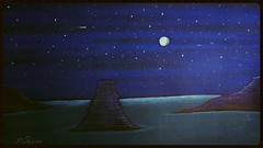 Wanna Be There, Acrylic mix on board 39x68 cm By Farshad Sanaee The Apple (Farshad Sanaee The Apple) Tags: ocean blue sea sky moon art night painting stars landscape islands artist gallery view artgallery tate kunst fineart painter romantic moonlight mystical magical artcollectors