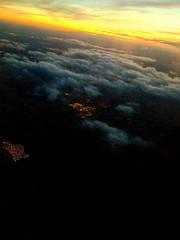 goodbye madrid (chiara'sphotos) Tags: madrid city light sunset clouds plane goodbye streamingfoto