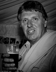 Rough Hands. (Neil. Moralee) Tags: old uk wedding party portrait bw white man black beer glass monochrome smile face shirt mono hands nikon close drink hard drinking ale neil devon mature labour jumper worker rough guest craftsman lager skill drinker craftsmen middleaged hemyock d7100 moralee