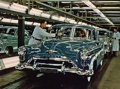 Oldsmobile Assembly Line 1950 (bslook1213) Tags: google factory 98 1950 1949 oldsmobile 1951 assemblyline flickriver flickrhive