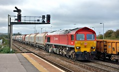 Westbury - 59203 - 23/10/14 (whosoever2) Tags: uk england rail wiltshire freight dbs westbury 2014 aggregate schenker class59 59203
