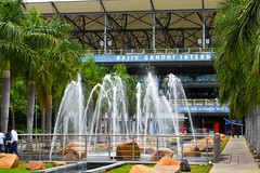 Water Fountain Rajiv Ghandhi International Airport Hyderabad (prassanth.nicholas) Tags: india fall water fountain airport international hyderbad rajiv ghandhi prassanth