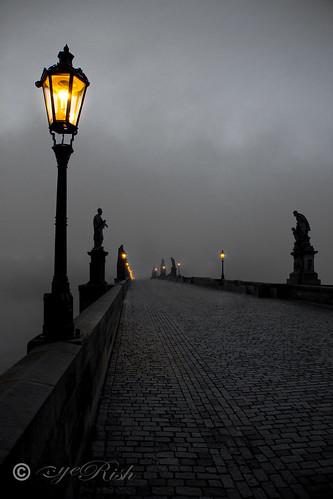 Prague - Gothic And A Foggy Night