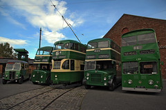 Liverpool Corporation Lineup (David Chennell - DavidC.Photography) Tags: liverpool transport tram birkenhead woodside wirral merseyside mtps liverpoolcorporation wirralbustramshow