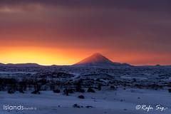 Volcano in the twilight