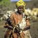 Momina ali, 10, moves livestock to a new location in Afar region of Ethiopia
