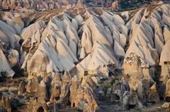 Hoodoo Landscape, near Goreme, Turkey (Fatima Kazmi) Tags: trip sunset turkey landscape star fairy wars chimneys rugged cappadocia hoodoos goreme turkeytrip
