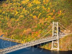 Bear Mountain Bridge over the Hudson River, New York (jag9889) Tags: bridge usa ny newyork river crossing unitedstates suspension unitedstatesofamerica aerialview bearmountain hudsonriver orangecounty waterway westchestercounty 2014 peekskill northriver fortclinton tomkinscove k133 jag9889 20141017