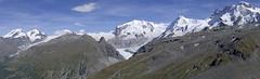 Trekking above Zermatt (Twilight Tea) Tags: alps switzerland august zermatt pennine valais 2014