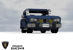 Peugeot 504 Berline (1968) (lego911) Tags: auto france car sedan french model lego render 1968 69 saloon luxury challenge peugeot 504 berline psa cad lugnuts 1960 povray 84 moc ldd miniland summerof69 lego911 lugnutsturns7or49indogyears