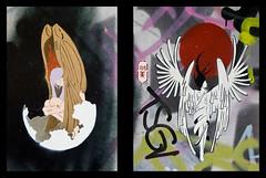 Akemi Ito (J-C-M) Tags: street city urban streetart art wall painting graffiti artwork stencil alley nikon paint artist grafitti artistic australia melbourne wallart victoria spray inner alleyway lane ito laneway d200 aerosol stencilart hosier akemi hosierlane akemiito